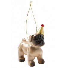 X-Mas Ornament - Pug Party Hat