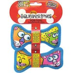Fat Cat Mini Squeaker Bones 2 Pack