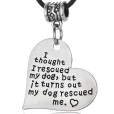 Necklace- my dog rescued me FREE POSTAGE