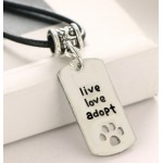 Necklace- live, love adopt FREE POSTAGE